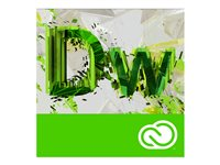 Adobe Dreamweaver CC for Enterprise - Företagslicensabonnemang - nytt (månatlig) - 1 namngiven användare - academic - Value Incentive Plan - Nivå 1 (1-9) - Win, Mac - EU English 65276797BB01A12