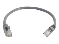 C2G Cat6 Booted Unshielded (UTP) Network Patch Cable - Patch-kabel - RJ-45 (hane) till RJ-45 (hane) - 1 m - UTP - CAT 6 - formpressad, hakfri, tvinnad - grå 83366