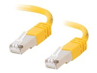 C2G Cat5e Booted Shielded (STP) Network Patch Cable - Patch-kabel - RJ-45 (hane) till RJ-45 (hane) - 3 m - STP - CAT 5e - formpressad - gul 83812