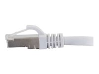C2G Cat6a Booted Shielded (STP) Network Patch Cable - Patch-kabel - RJ-45 (hane) till RJ-45 (hane) - 1 m - STP - CAT 6a - formpressad, hakfri, tvinnad - vit 89935