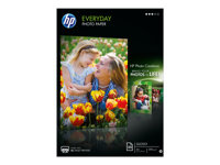 HP Everyday Photo Paper - Blank - 8 mil - A4 (210 x 297 mm) - 200 g/m² - 25 ark fotopapper - för Envy 5055, 7645; Officejet 5255, 6000 E609, 76XX; PageWide MFP 377; PageWide Pro 452 Q5451A