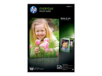HP Everyday Photo Paper - Blank - 8 mil - 100 x 150 mm - 200 g/m² - 100 ark fotopapper - för Envy 5055, 7645; Officejet 5255, 5258, 7610, 7612; PageWide MFP 377dw; PageWide Pro 452dwt CR757A
