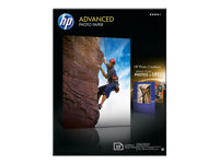 HP Advanced Glossy Photo Paper - Blank - 130 x 180 mm 25 ark fotopapper - för Envy 5055, 7645; Officejet 5255, 6000 E609; PageWide MFP 377; PageWide Pro 452 Q8696A