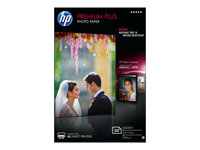 HP Premium Plus Photo Paper - Blank - 100 x 150 mm - 300 g/m² - 50 ark fotopapper - för Envy 5055, 7645; Officejet 5255, 76XX; PageWide MFP 377; PageWide Pro 452; Photosmart 5525 CR695A