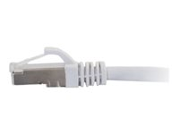C2G Cat6a Booted Shielded (STP) Network Patch Cable - Patch-kabel - RJ-45 (hane) till RJ-45 (hane) - 7 m - STP - CAT 6a - formpressad, hakfri, tvinnad - vit 89940