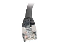 C2G Cat5e Booted Shielded (STP) Network Patch Cable - Patch-kabel - RJ-45 (hane) till RJ-45 (hane) - 1 m - STP - CAT 5e - formpressad - svart 83850